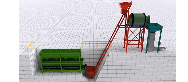 Bulk Blending Granulation Fertilizer Production Line