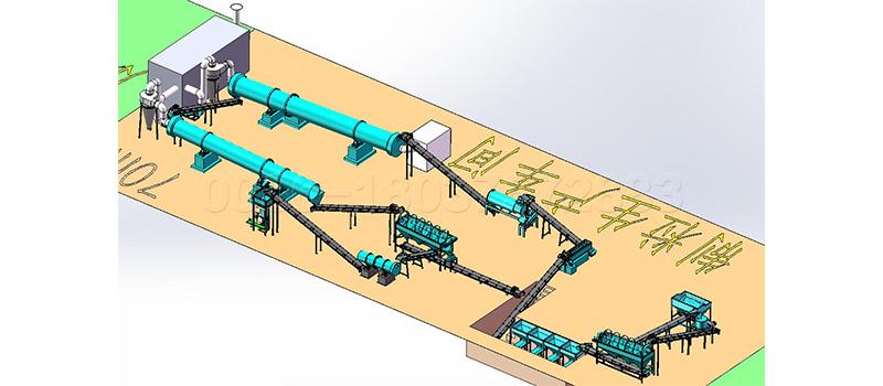 Cow Dung Fertilizer Production Line