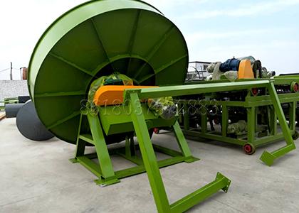 Disc granulator production line for making manure fertilizer