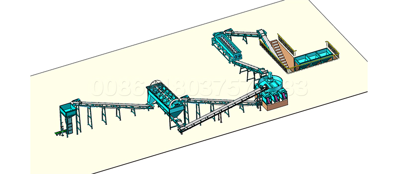 Double roller press granulator compost production line