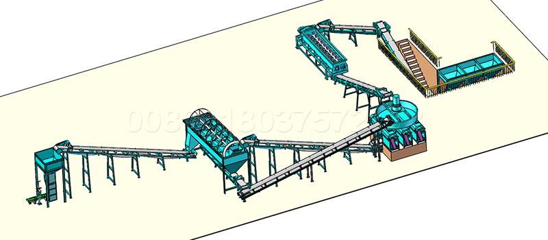 Industrial npk fertilizer production process
