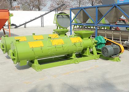 Manure fertilizer pellets processing machine