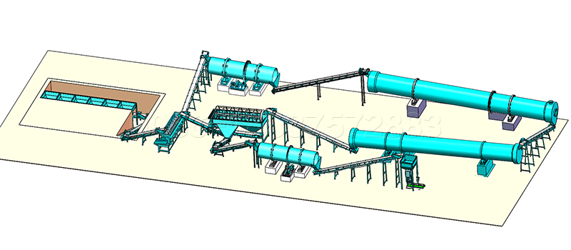 NPK Compound Fertilizer Production Line with Rotary Drum Granulator