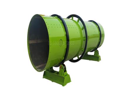 Rotary drum granulator for making compound fertilizer pellets