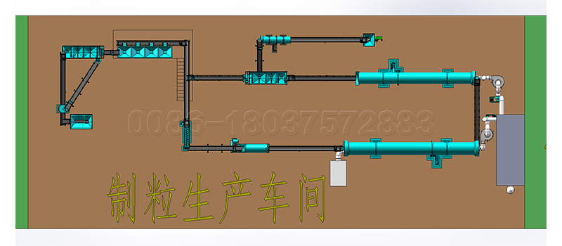 chicken manure fertilizer production line