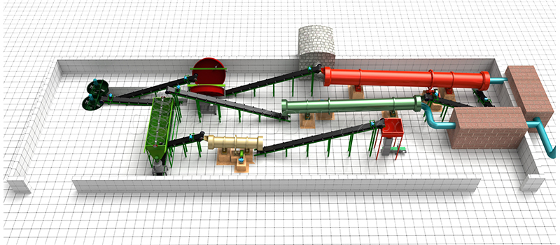 organic fertilizer granulation production line provided by SEEC